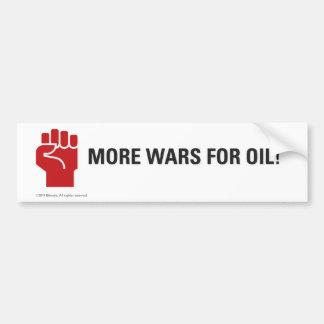 Mais guerras para o óleo! adesivo para carro