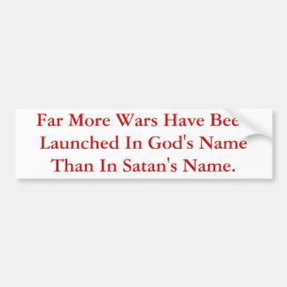Mais guerras são lançadas no nome do deus do que S Adesivo Para Carro