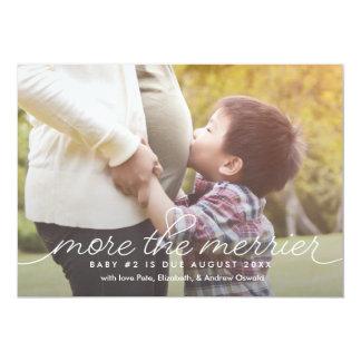 Mais o cartão mais alegre do anúncio da gravidez convite 12.7 x 17.78cm