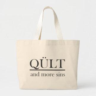 mais pecados bolsas de lona