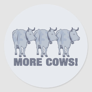 Mais vacas! adesivos redondos