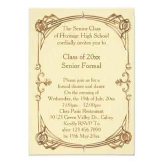 mais velho da classe do baile de formatura formais convite 12.7 x 17.78cm
