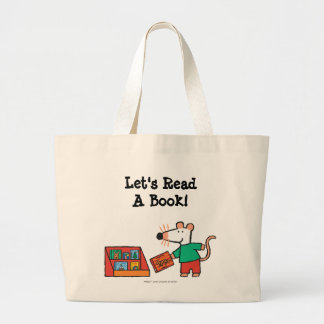 Maisy com livros da biblioteca bolsa tote grande