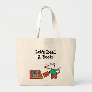 Maisy com livros da biblioteca sacola tote jumbo
