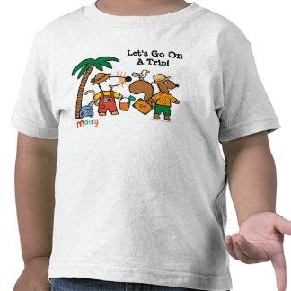 Maisy e Cyril com a palmeira na praia T-shirt
