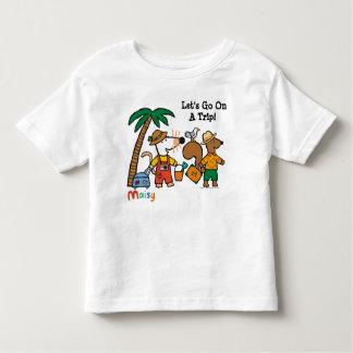 Maisy e Cyril com a palmeira na praia Tshirts