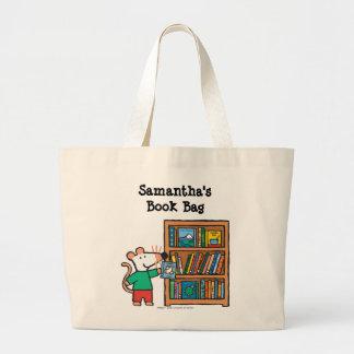 Maisy e uma estante dos livros sacola tote jumbo
