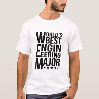 Major da engenharia do mundo o melhor camiseta