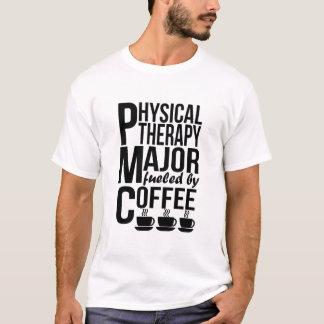 Major da fisioterapia abastecido pelo café camiseta