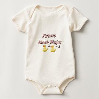 Major de matemática futuro bebê body para bebê