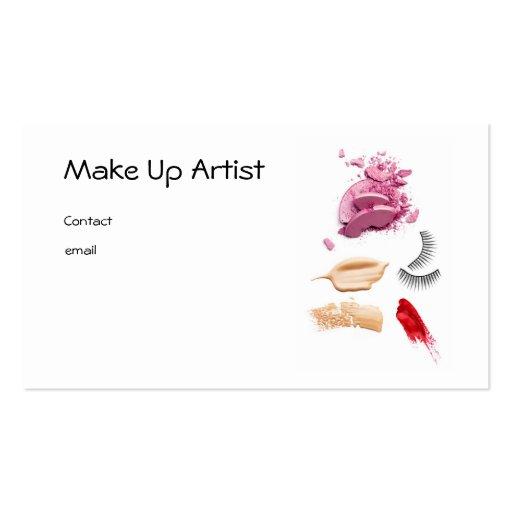 Make Up Artist Modelo Cartoes De Visitas