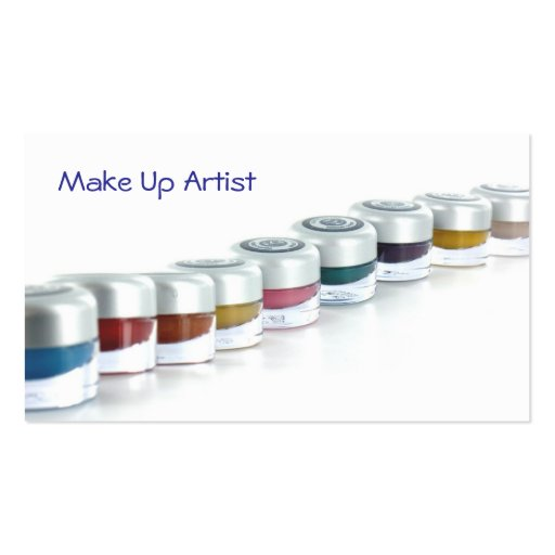 Make Up Artist Cartoes De Visita