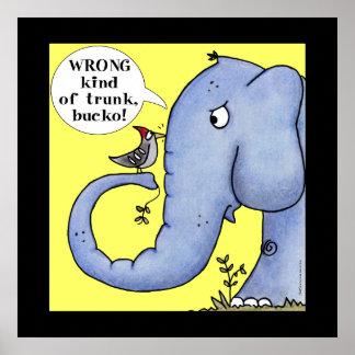 Mal-entendido do elefante e do pica-pau poster