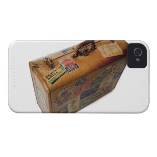 mala de viagem antiquado com etiquetas do viagem capinha iPhone 4