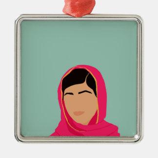 Malala Yousafzai Ornamento De Metal