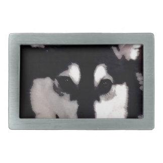 Malamute do Alasca de sorriso preto e branco