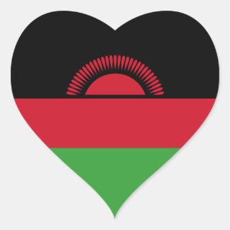 Malawi/bandeira malaviana do coração adesivo coração