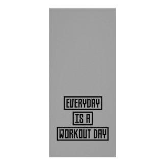 Malhação Z2y22 do dia do exercício 10.16 X 22.86cm Panfleto