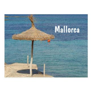 Mallorca - cartão do guarda-chuva da palha