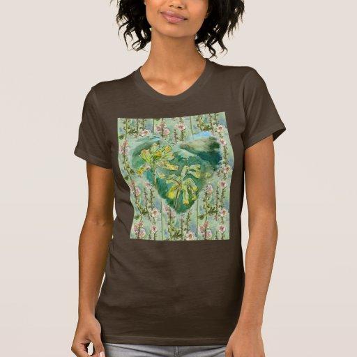 Mallow delicado camisetas