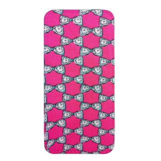 Malote feminino cor-de-rosa do iPhone 5s Bolsinha De Celular