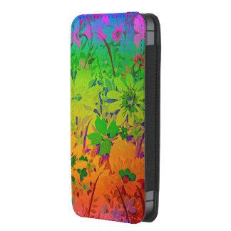 Malotes florais do iPhone do arco-íris Bolsinha De Celular