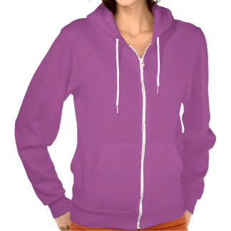 Malva da cor:  Hoodie do fecho de correr do velo Moletom