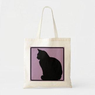 Malva do gato preto sacola tote budget