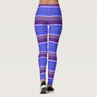 Malva e azul roxos leggings