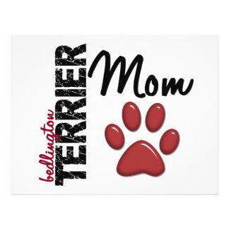 Mamã 2 de Bedlington Terrier Modelo De Panfletos