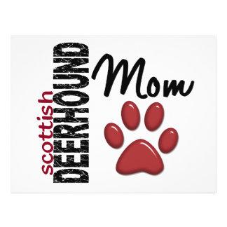 Mamã 2 de Deerhound do Scottish Modelo De Panfleto