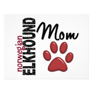 Mamã 2 de Elkhound do norueguês Modelo De Panfletos