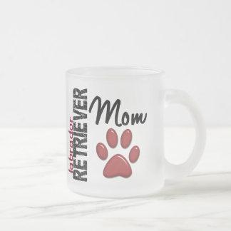 Mamã 2 de labrador retriever caneca de café vidro jateado