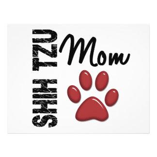 Mamã 2 de Shih Tzu Panfleto Coloridos