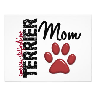 Mamã 2 de Staffordshire Terrier americano Panfletos Personalizados