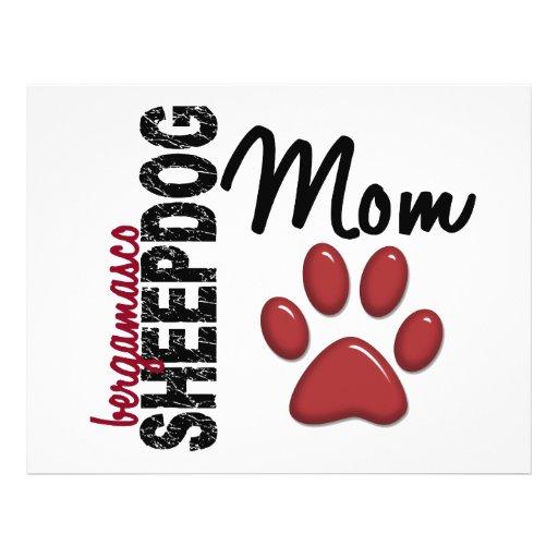 Mamã 2 do Sheepdog de Bergamasco Panfleto Personalizados