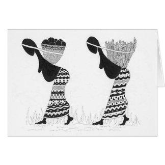 Mama África Cartão Comemorativo