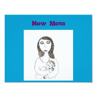 Mamã assustador nova convite 10.79 x 13.97cm