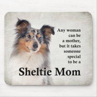Mamã azul Mousepad de Merle Sheltie