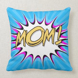Mamã! Banda desenhada, poster do pop art Travesseiro