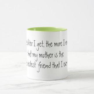 mamã bonito a ideia do presente da caneca do dia
