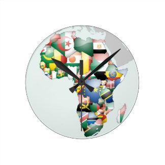 Mama bonito África do olá! de Jambo Habari África Relógios Para Paredes