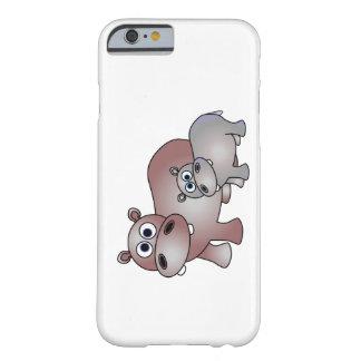Mamã bonito e bebê do Hippopotamus Capa Barely There Para iPhone 6