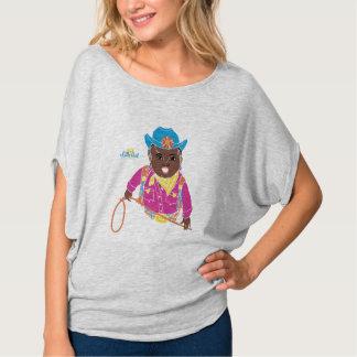 Mama Camisa de Flowy da vaqueira (preto)