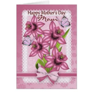 Mamã, cartão do dia das mães com Daffodils