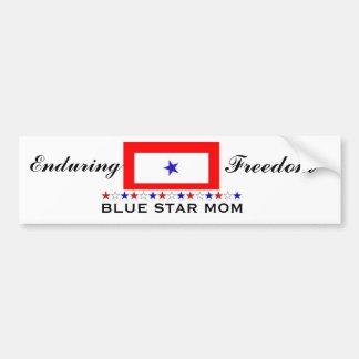 Mamã da estrela azul adesivo para carro