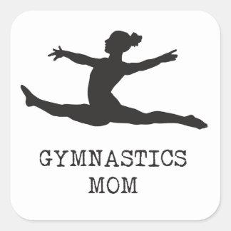 Mamã da ginástica adesivo quadrado