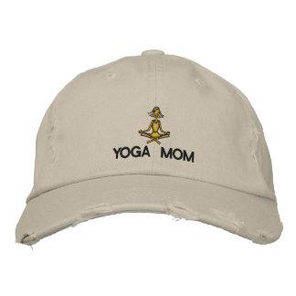 Mamã da ioga bordada bone bordado