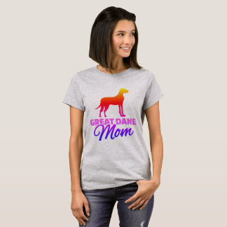 Mamã de great dane camiseta