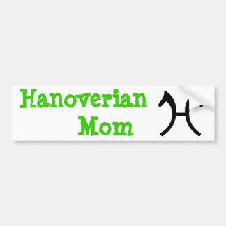 Mamã de Hanoverian - autocolante no vidro traseiro Adesivo Para Carro